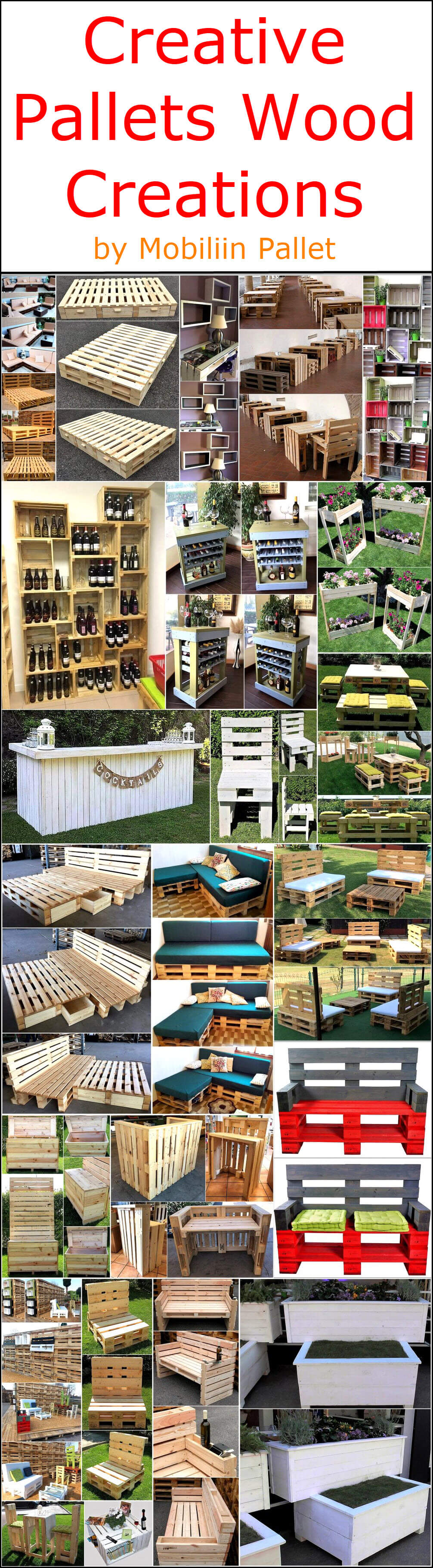 Creative Pallets Wood Creations by Mobiliin Pallet