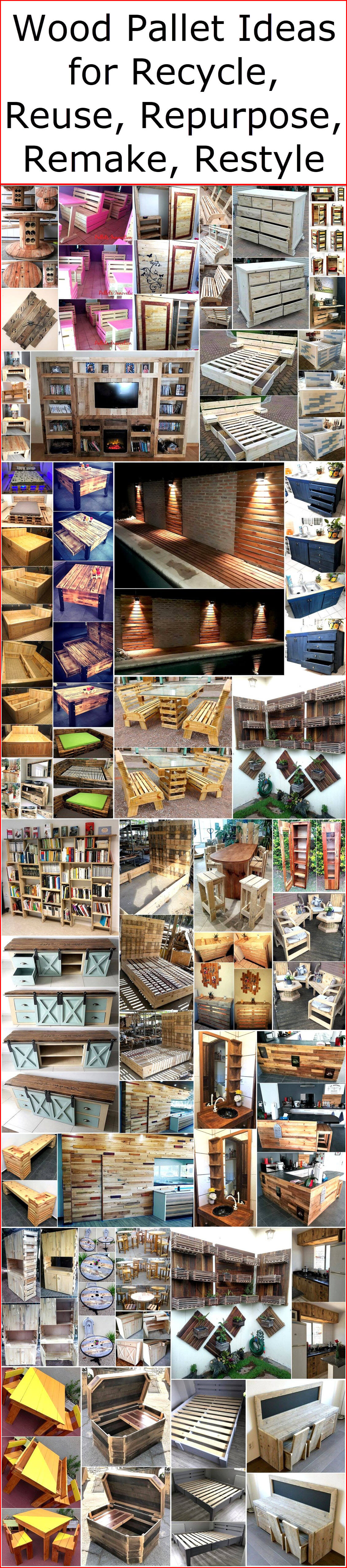 Wood Pallet Ideas For Recycle, Reuse, Repurpose, Remake, Restyle