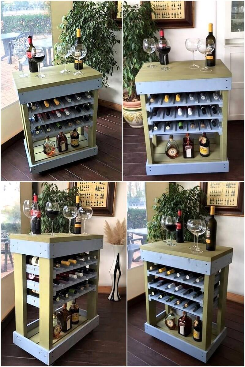 bar made with wood pallets