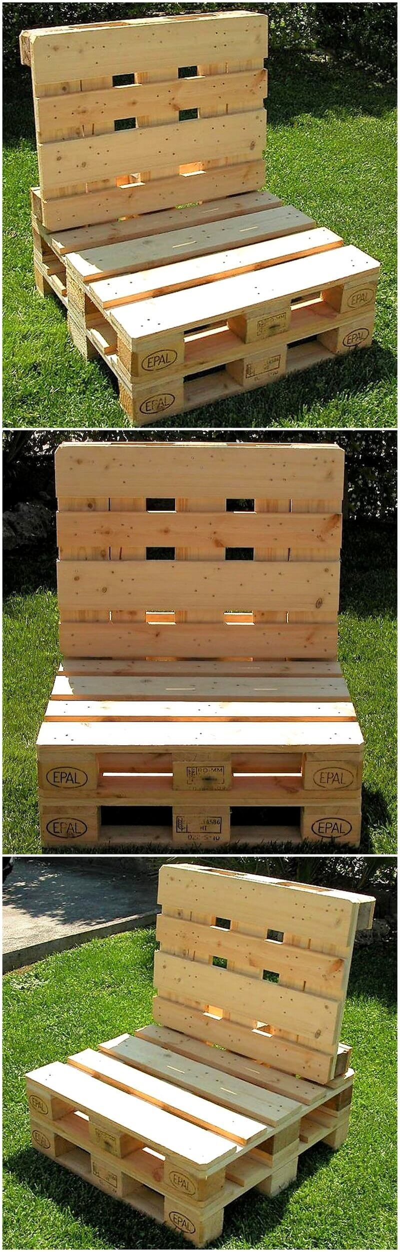 farmhosue seat out of pallets