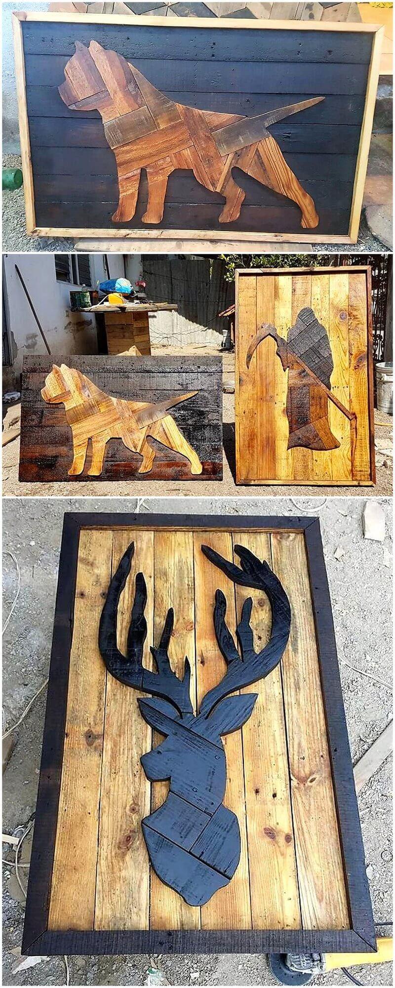 pallet art crafts