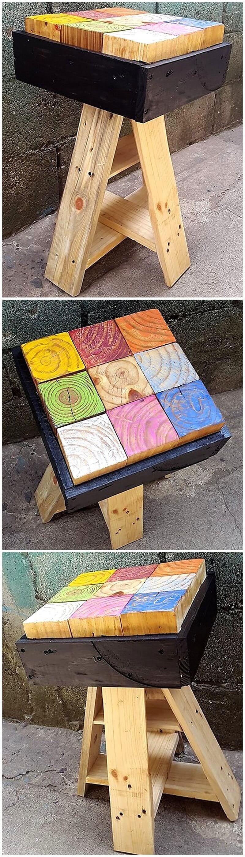 pallet artistic stool