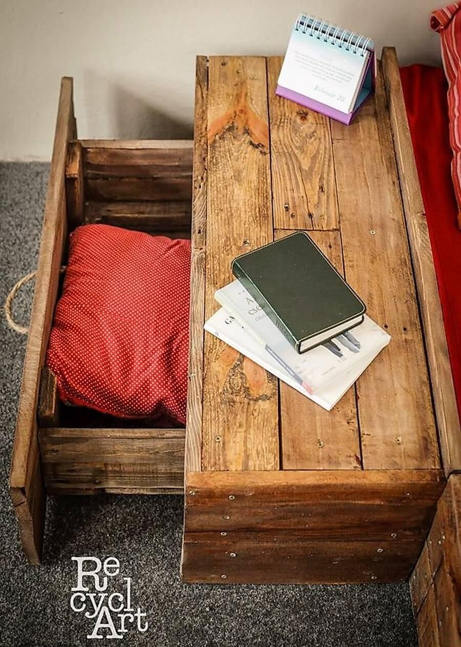 pallet bed drawer