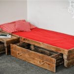 Creative Plan For Wood Pallet Drawers Bed