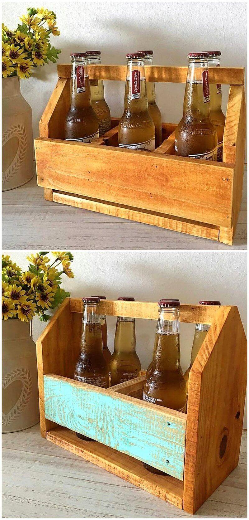 pallet bottles holder