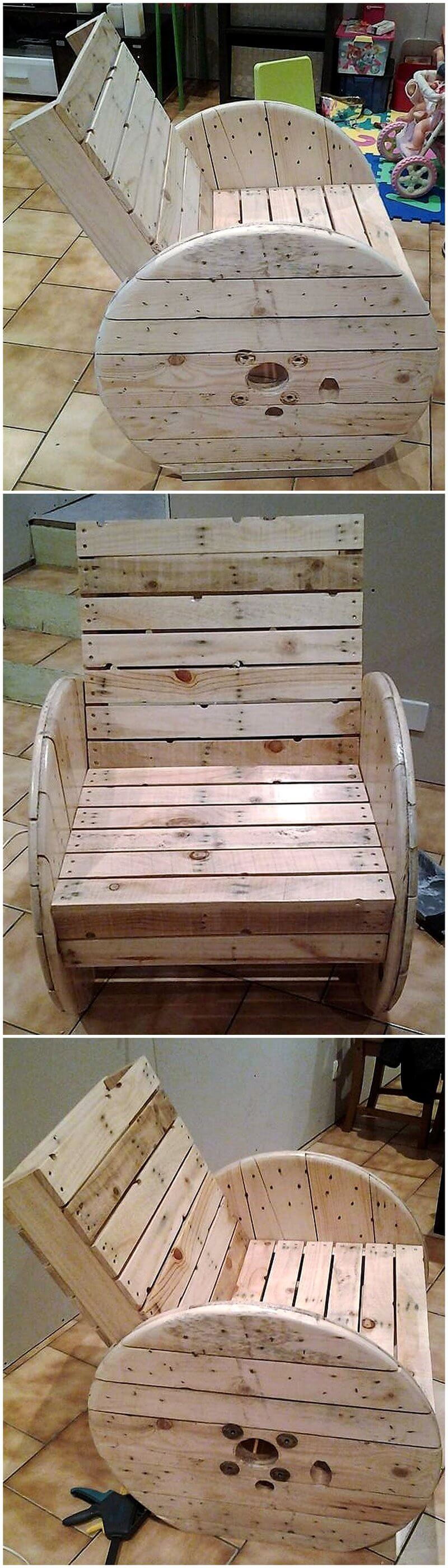 pallet cable reel chair