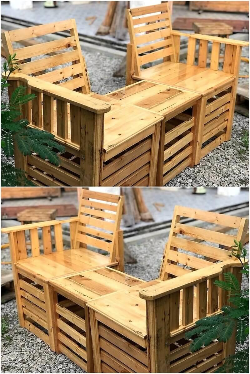 pallet chair set