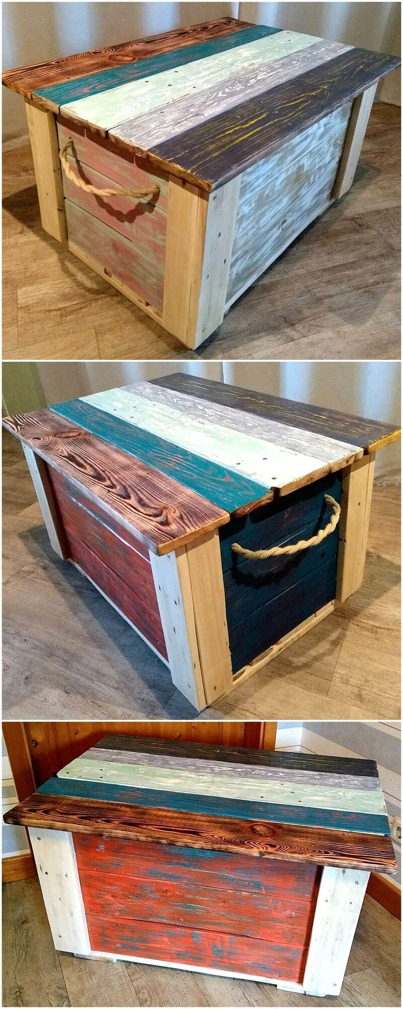 pallet coffee table chest
