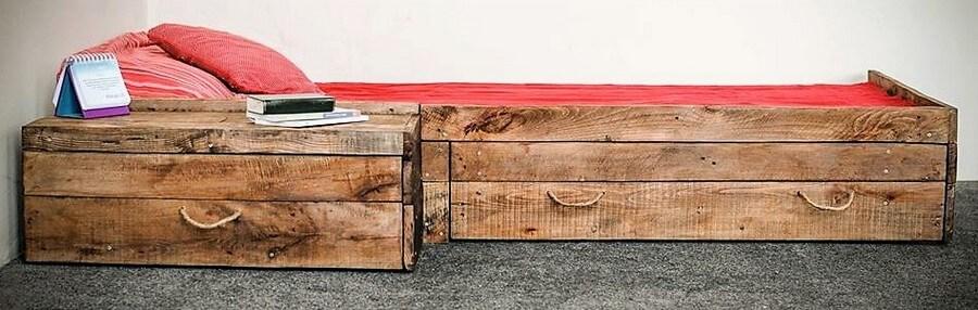 pallet drawer bed