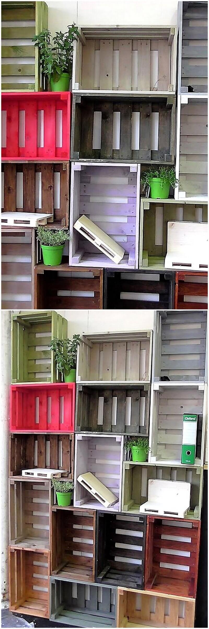 pallet fruit crates shelving