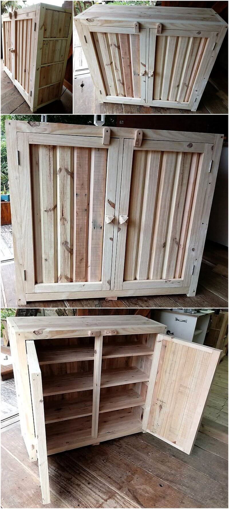 pallet kitchen storage cabinet