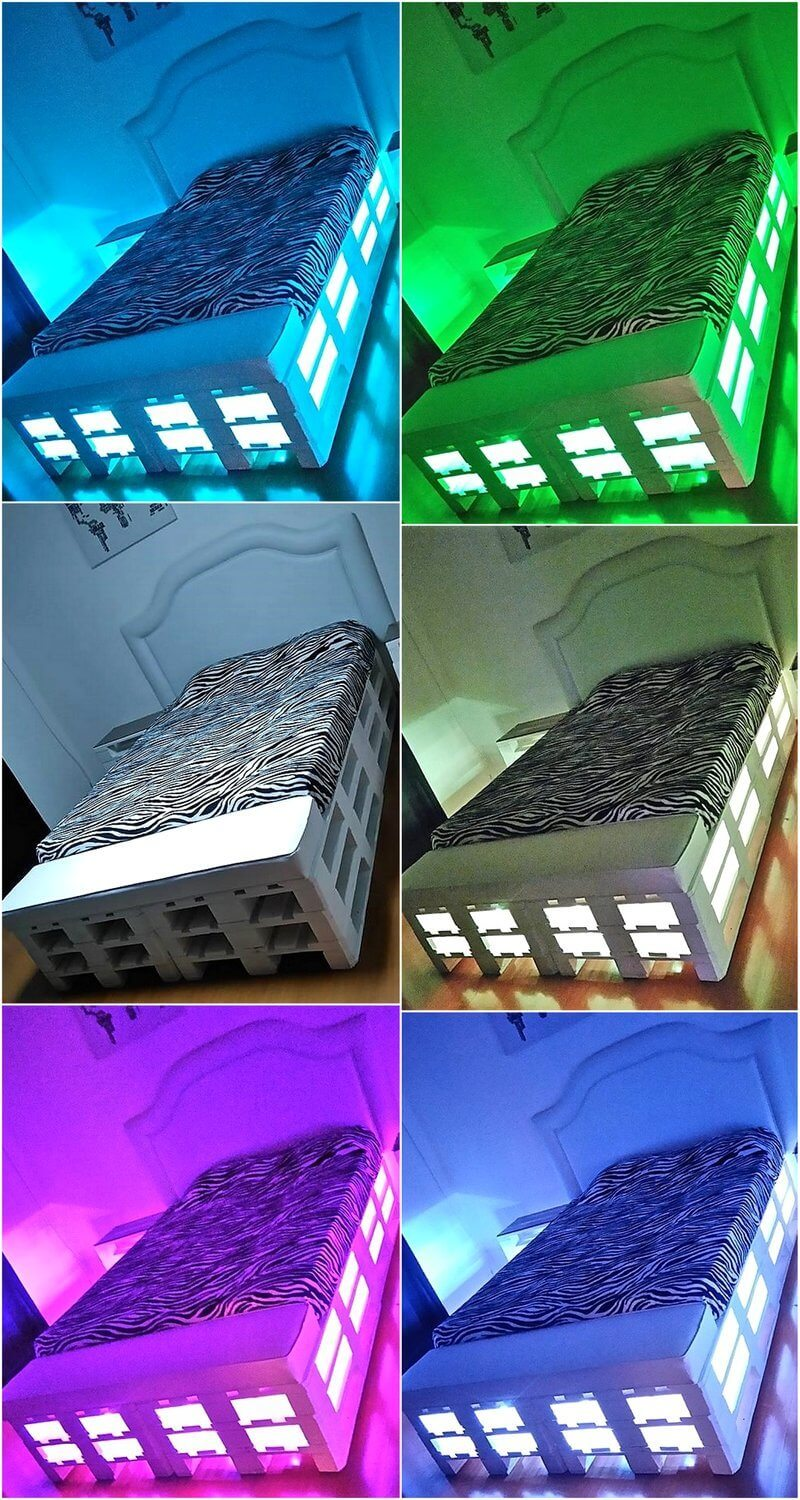 pallet lighted bed plan