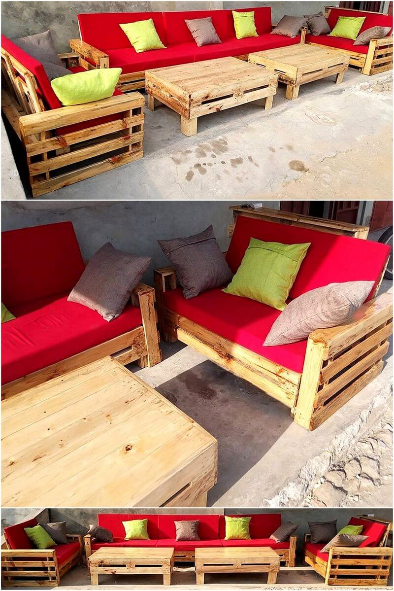 pallet outdoor couch plan