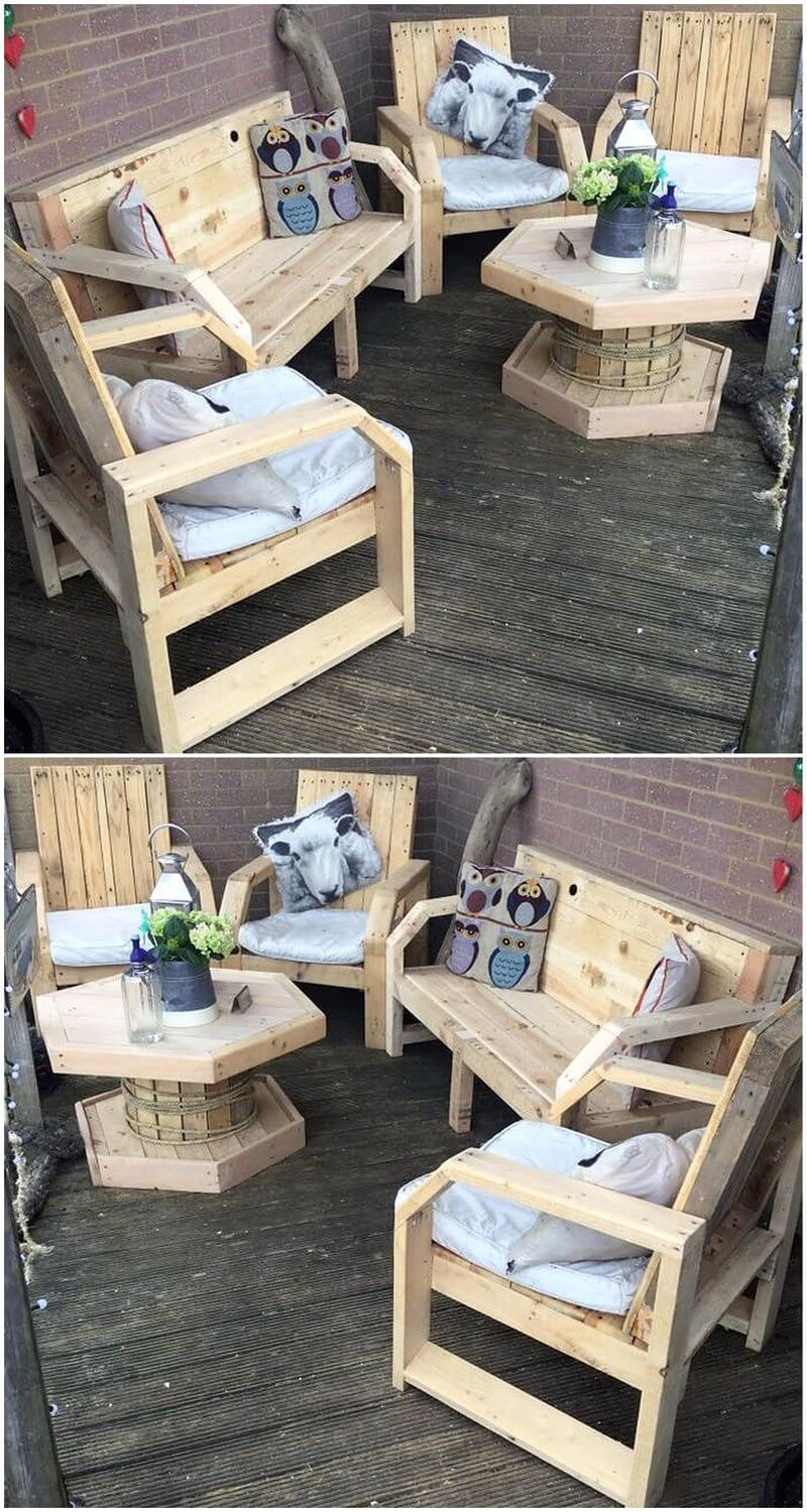 pallet outdoor lounge furniture
