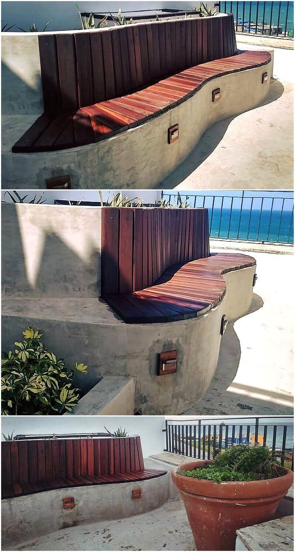 pallet patio bench idea