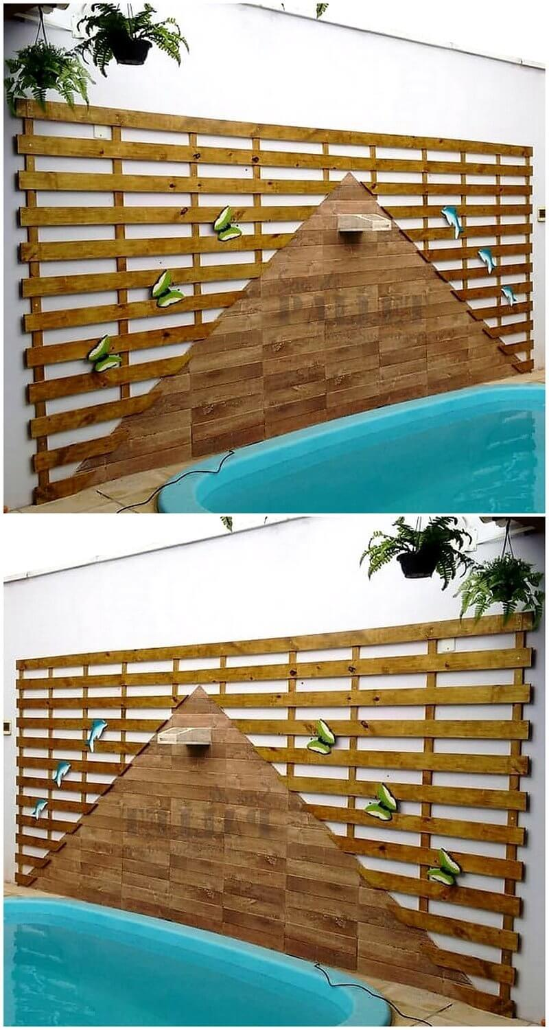 pallet poolside wall art