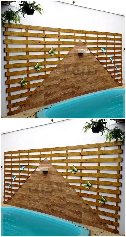 pallet poolside wall art