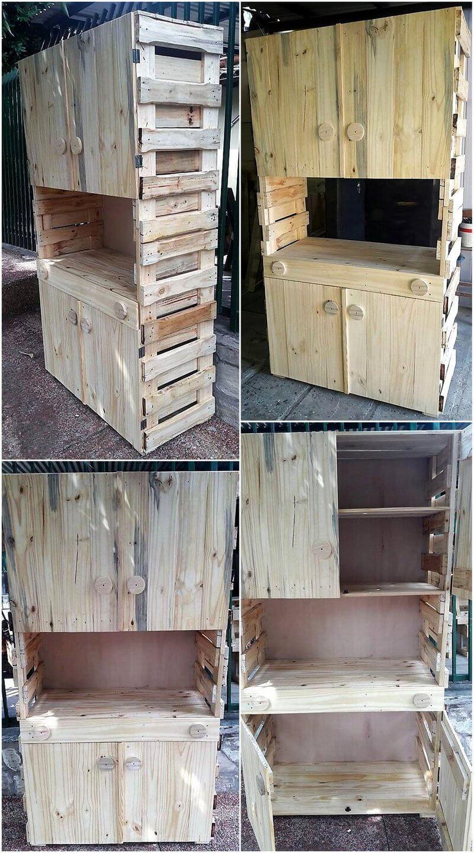 pallet rustic closet plan