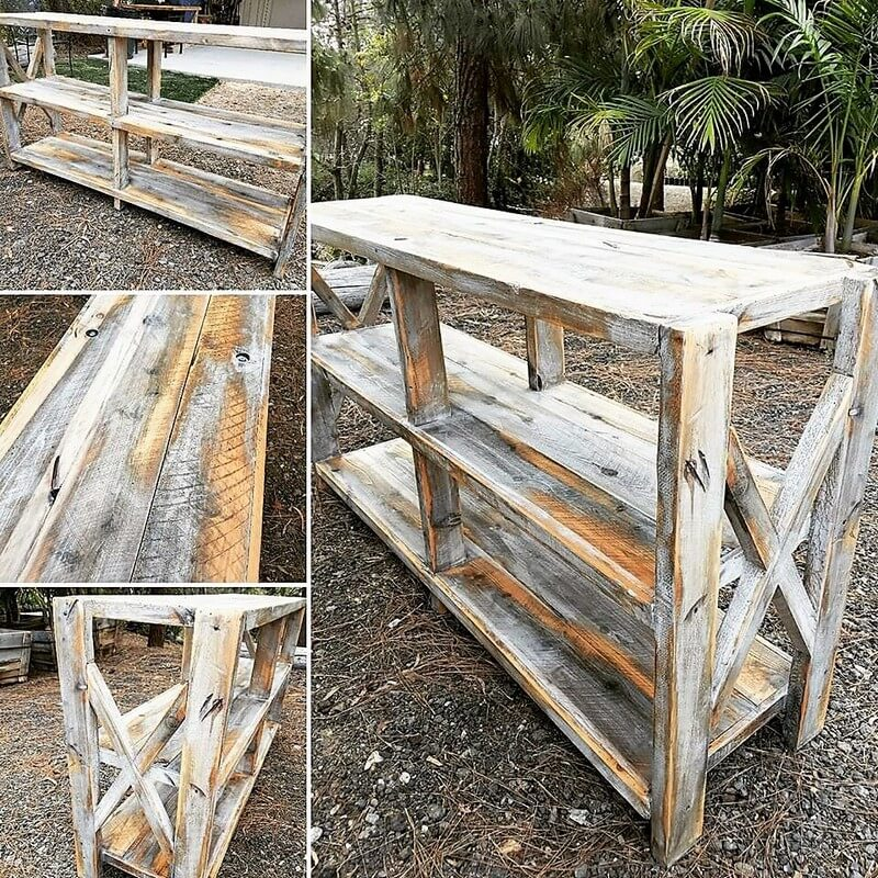pallet rustic entryway table