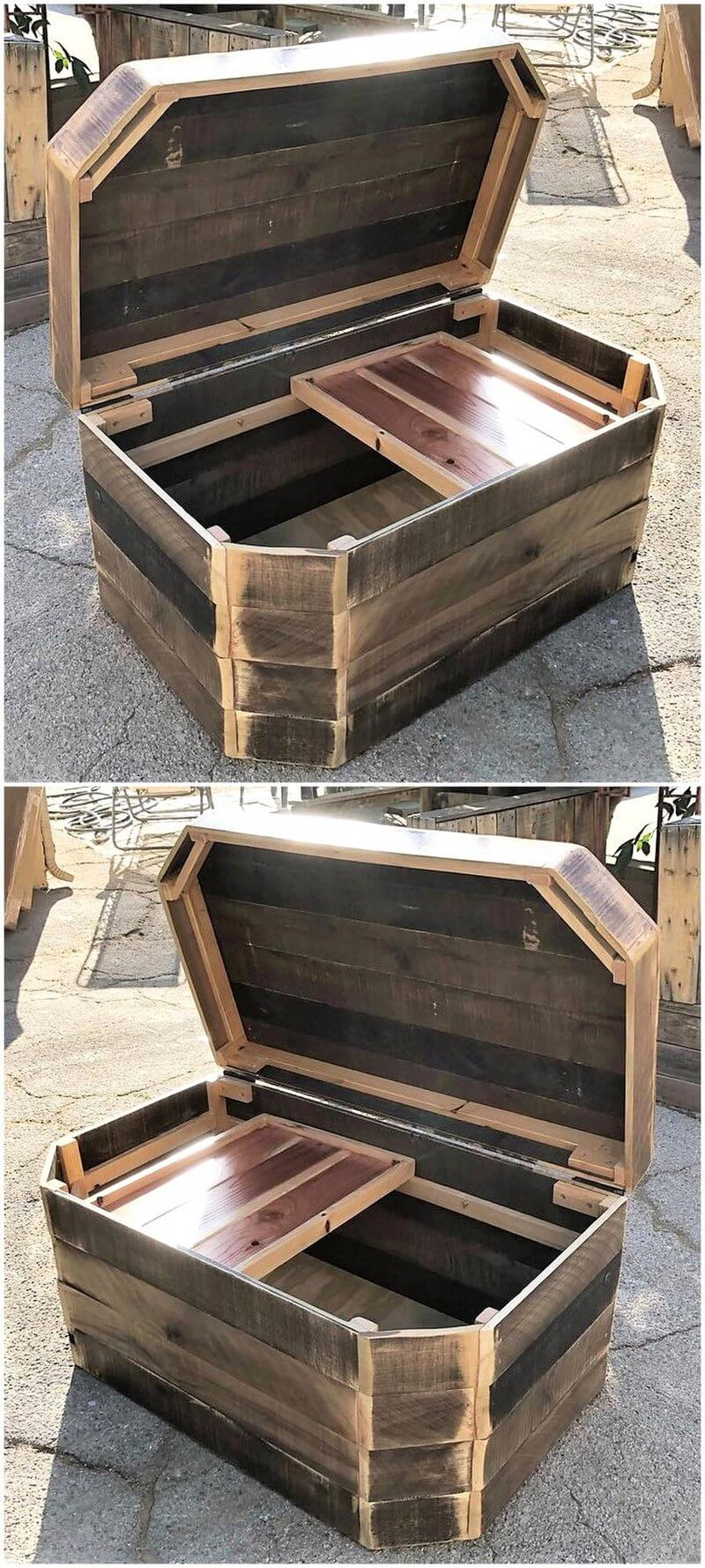 pallet rustic giant chest