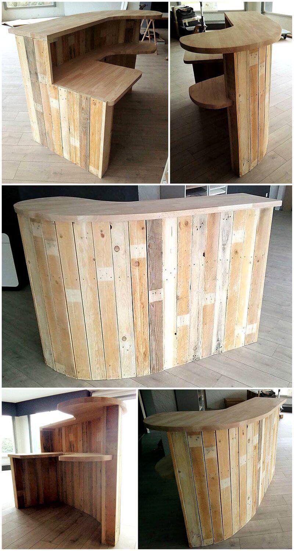 pallet shop counter desk plan