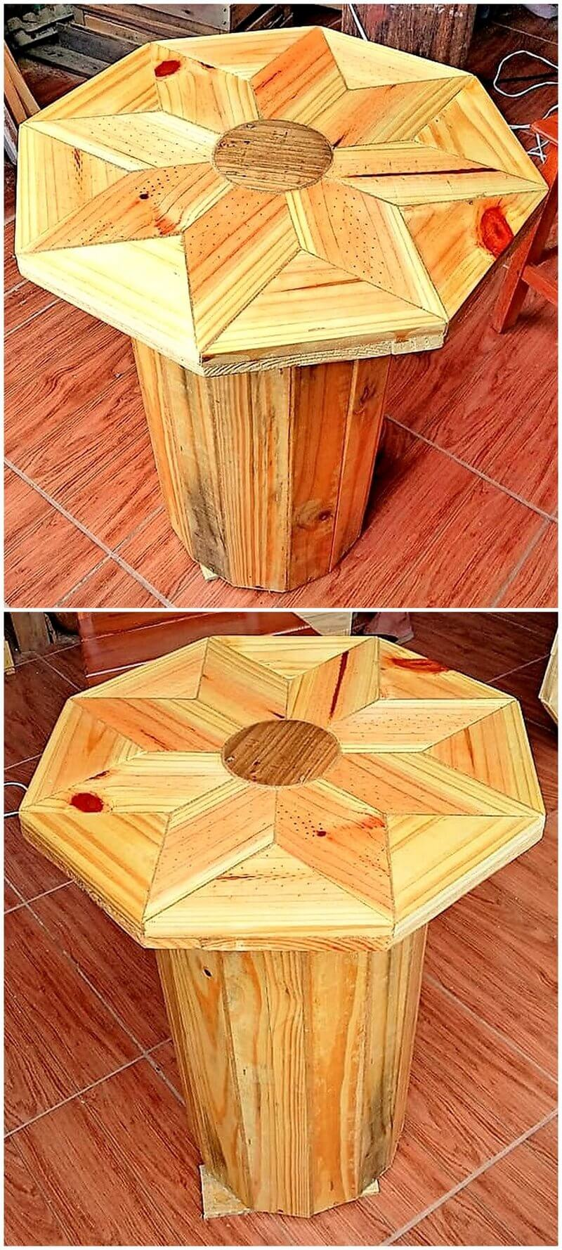 pallet table art
