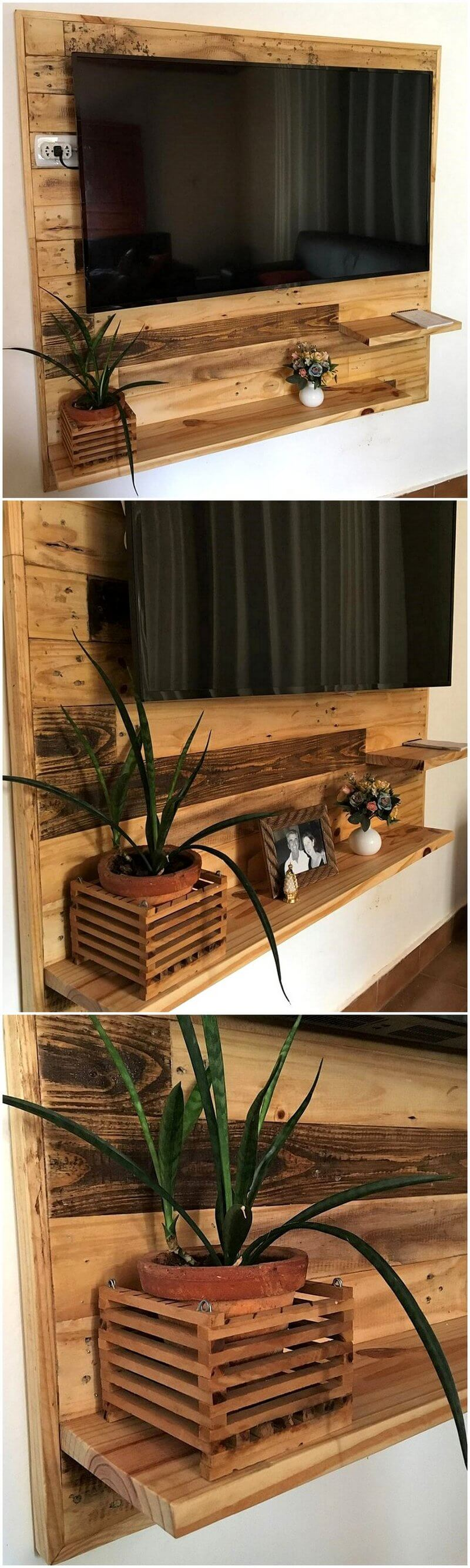 pallet wall tv stand plan