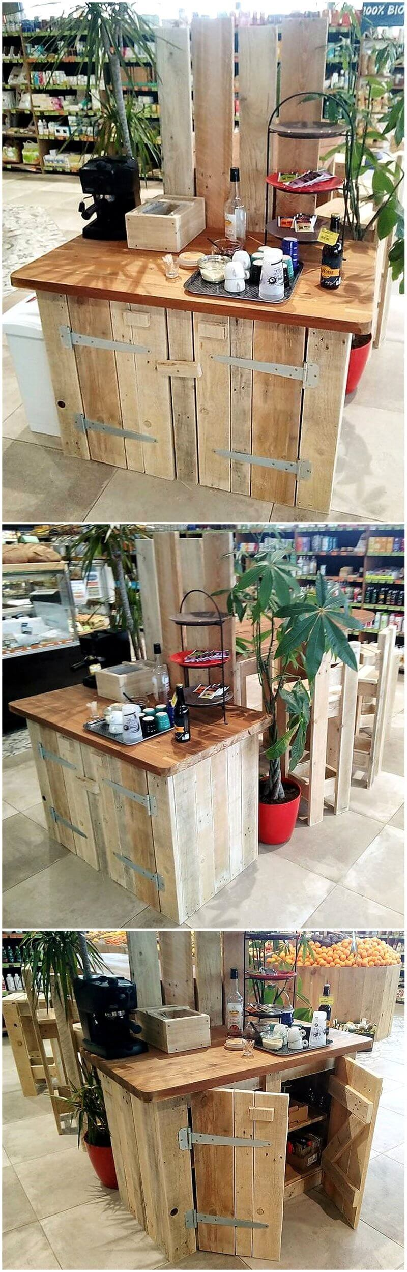 pallet wood display furniture