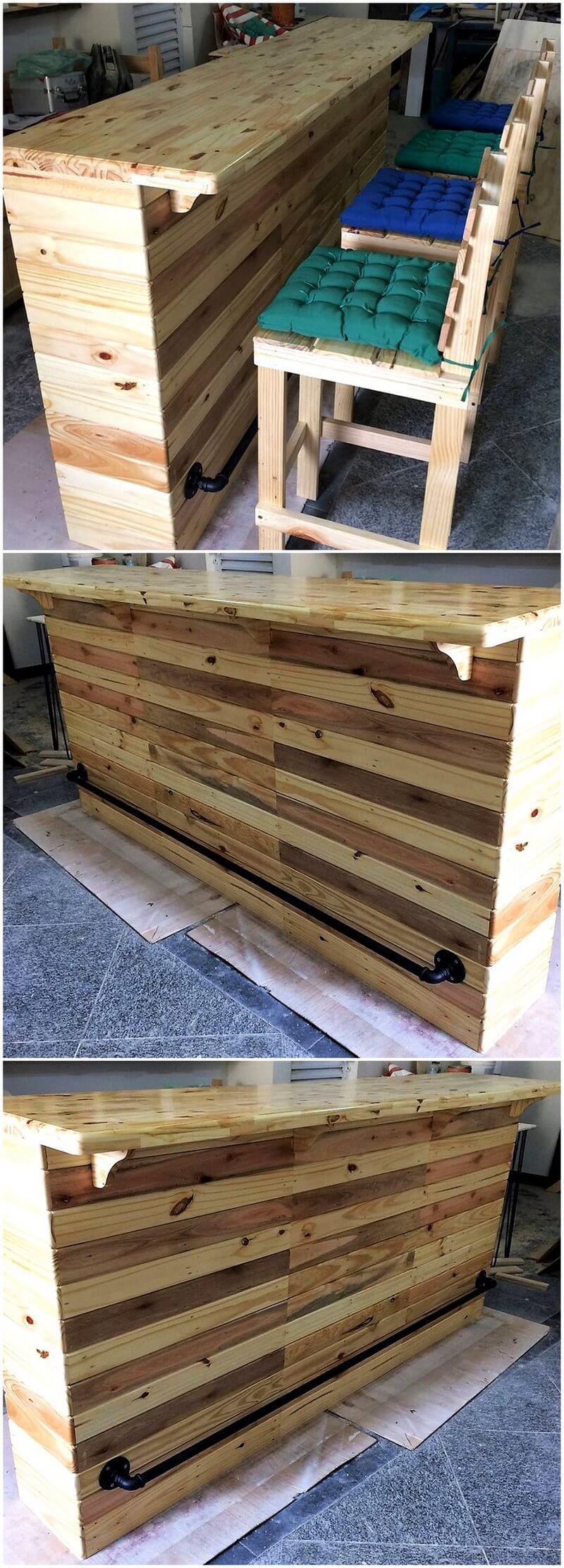 pallet wooden bar plan