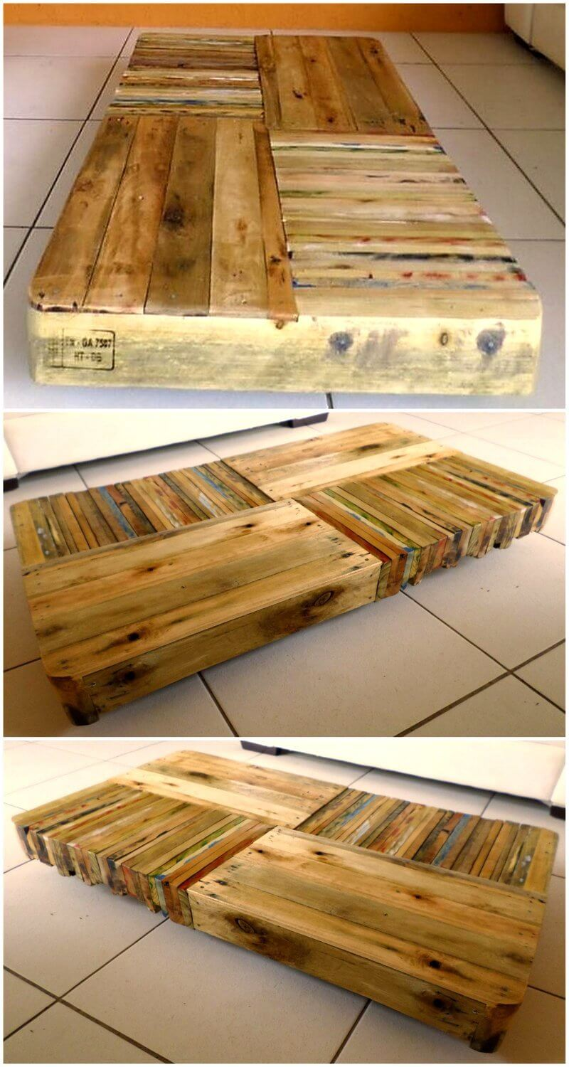 pallet wooden coffee table idea