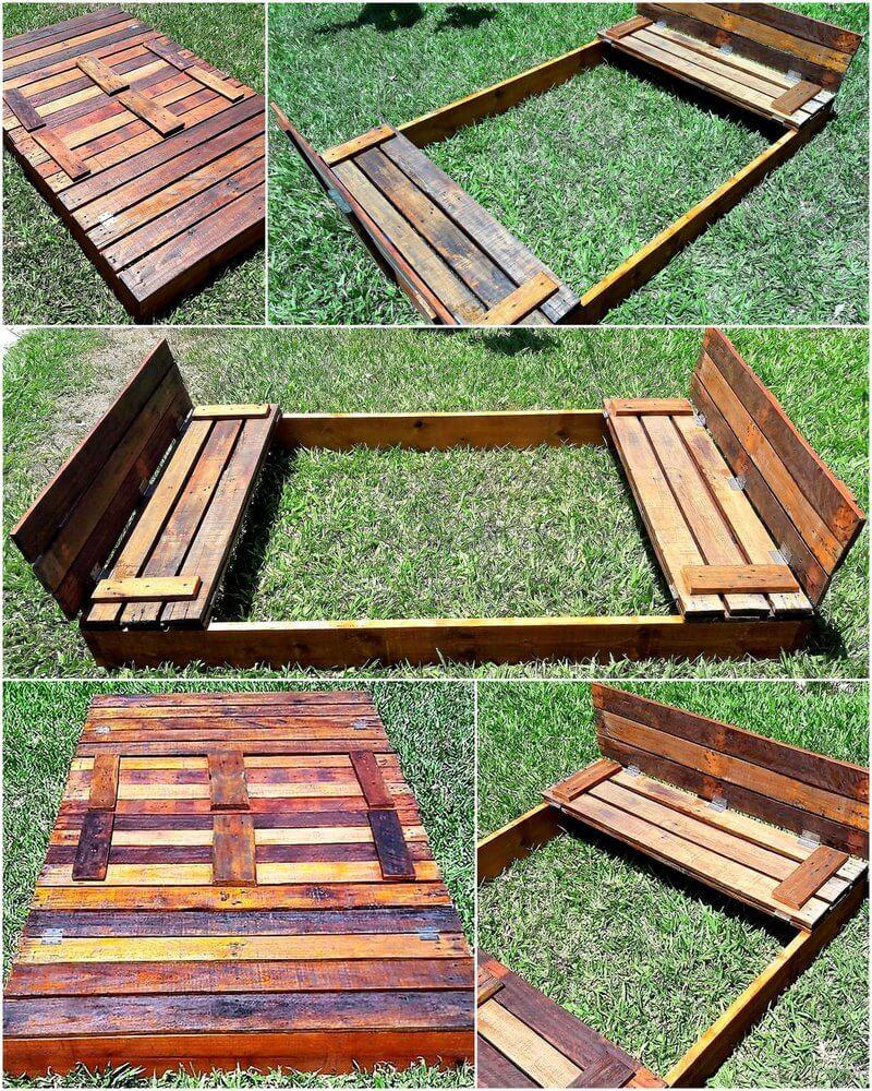 pallets made kids play sandbox