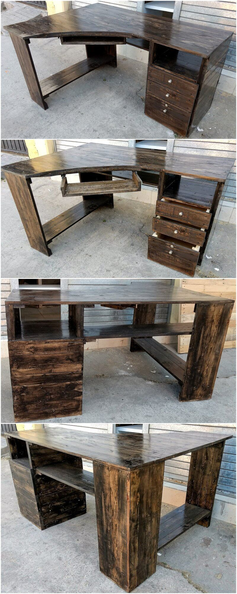 pallets made office desk