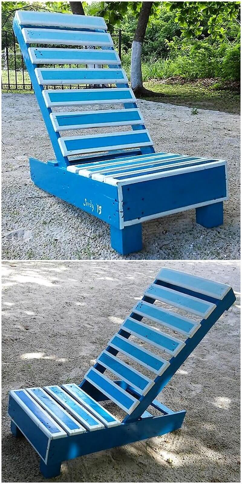 pallets wooden chair