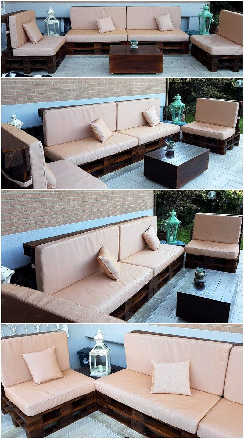 patio lounge made with pallets