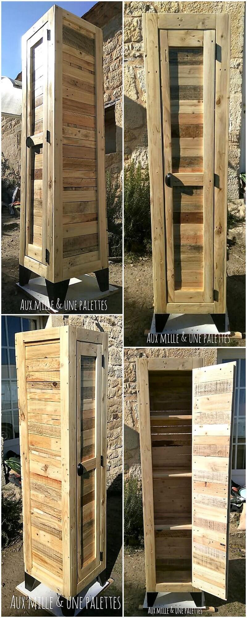 reclaimed wood pallet closet