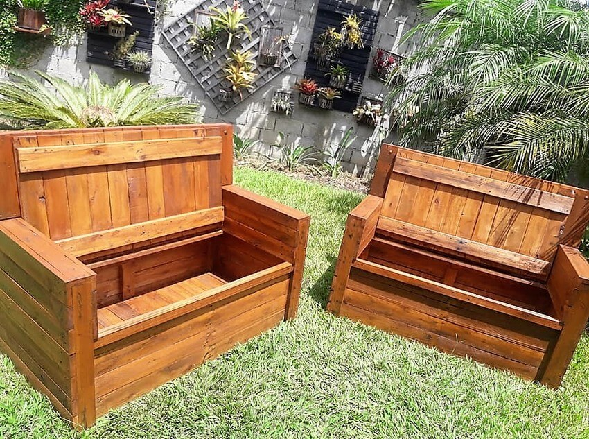 recycled pallet garden furniture