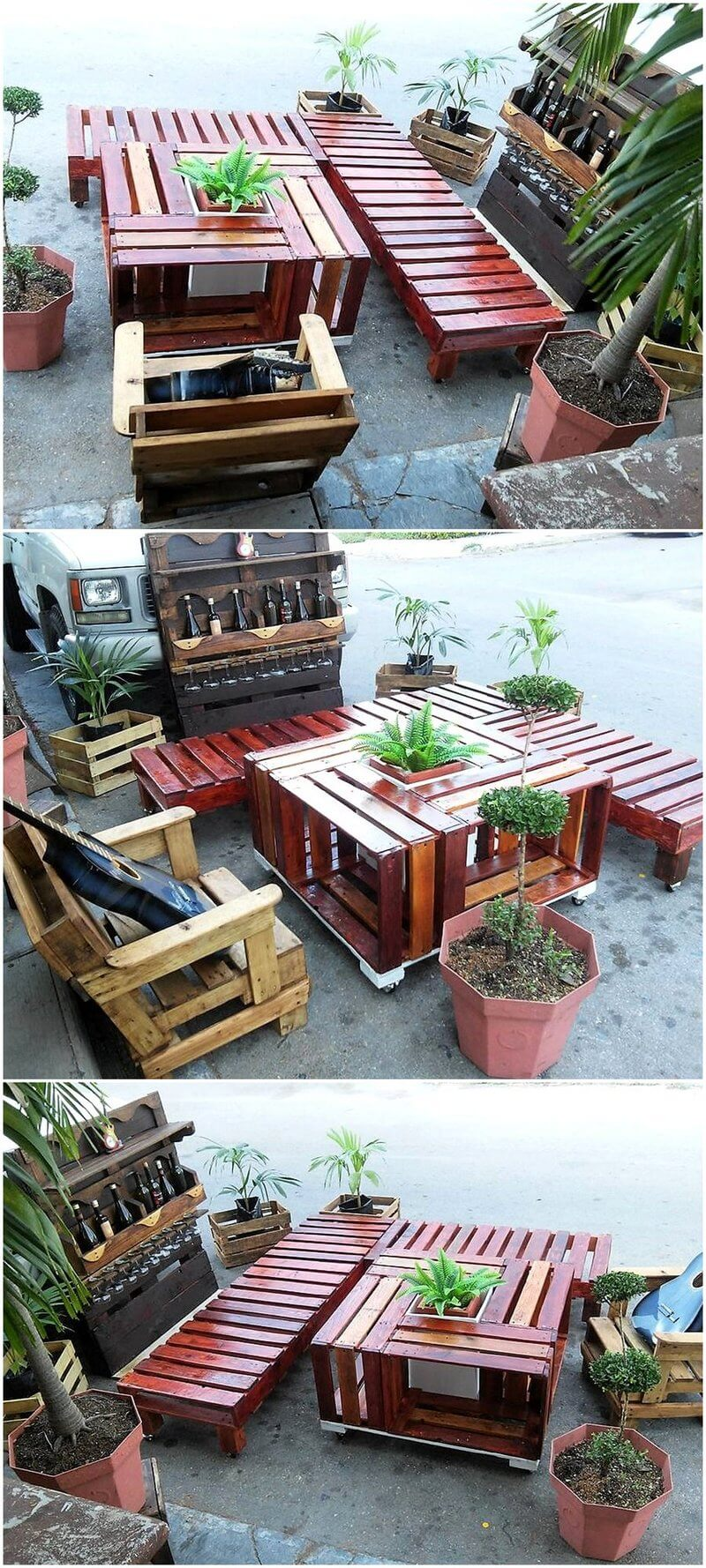 recycled pallet lounge