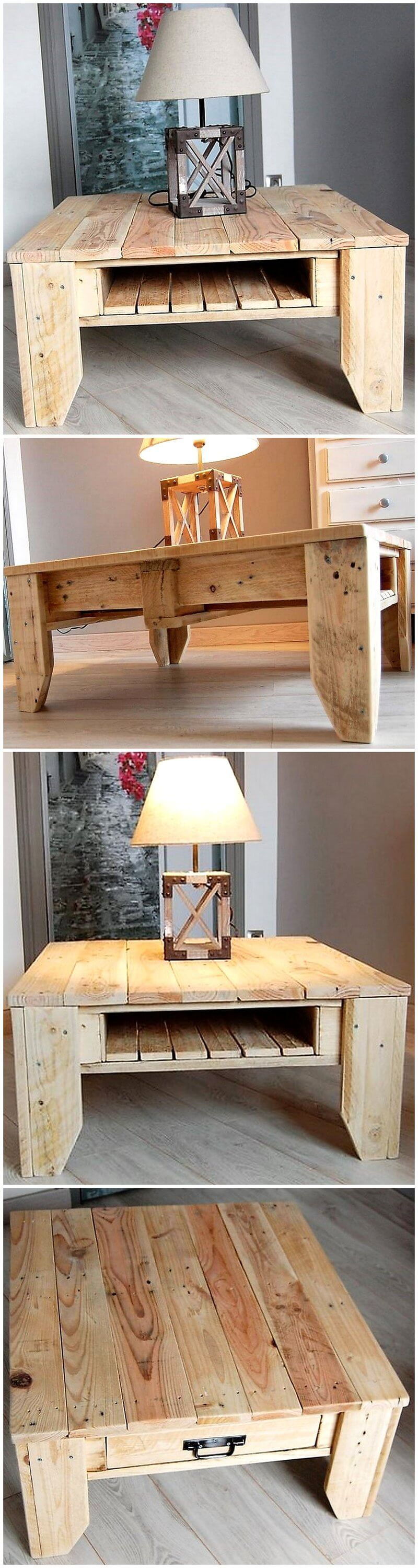 recycled pallet wooden table