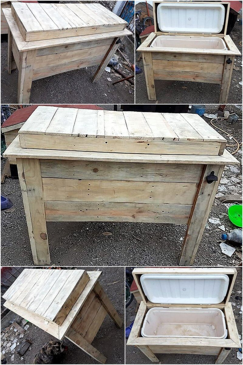 repurposed pallet cooler idea