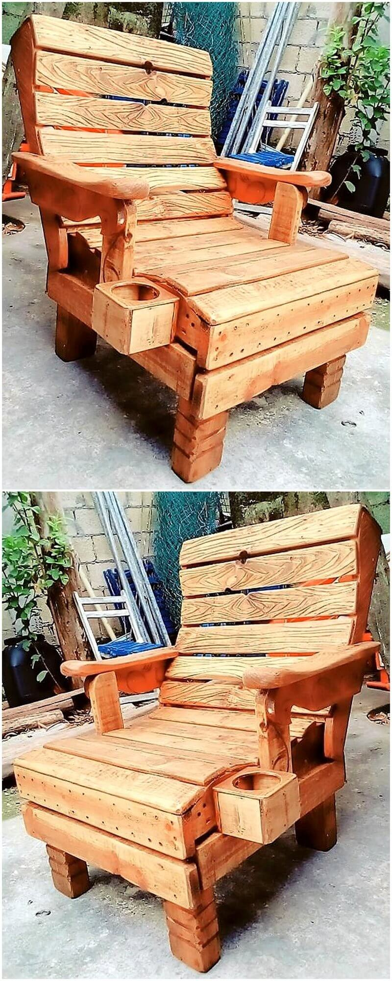 reused pallet chair