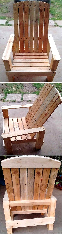 reused pallet chair