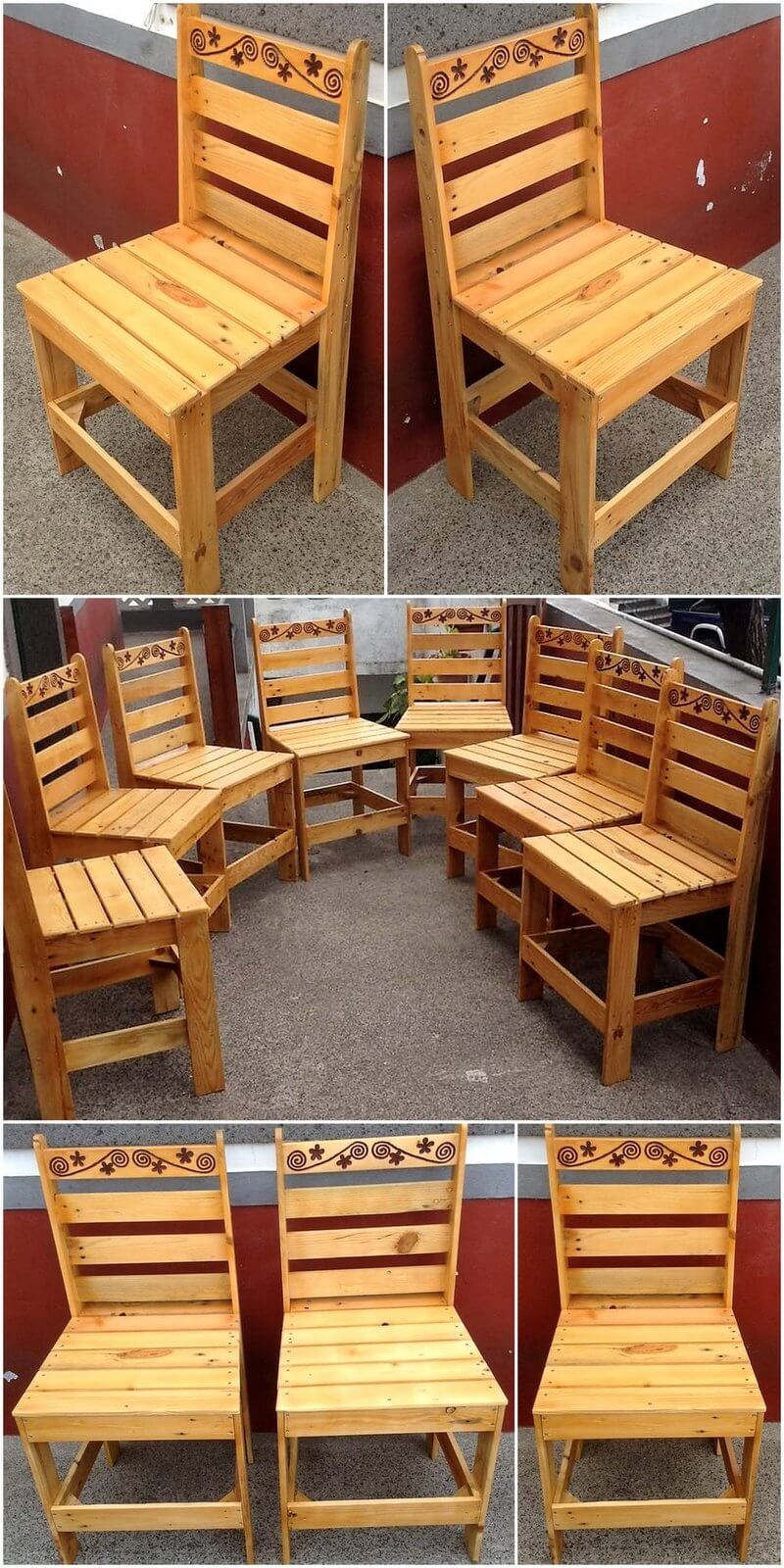 reused pallets made chairs