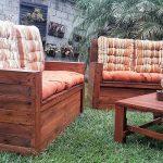 Wooden Pallet Garden Furniture with Storage