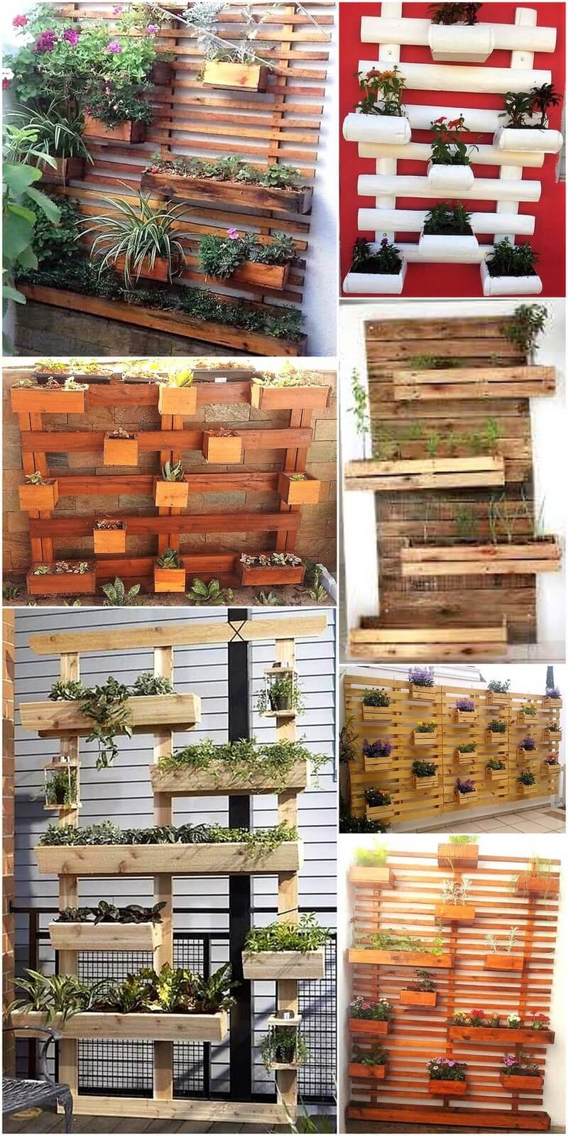 wall planters out of pallets wood