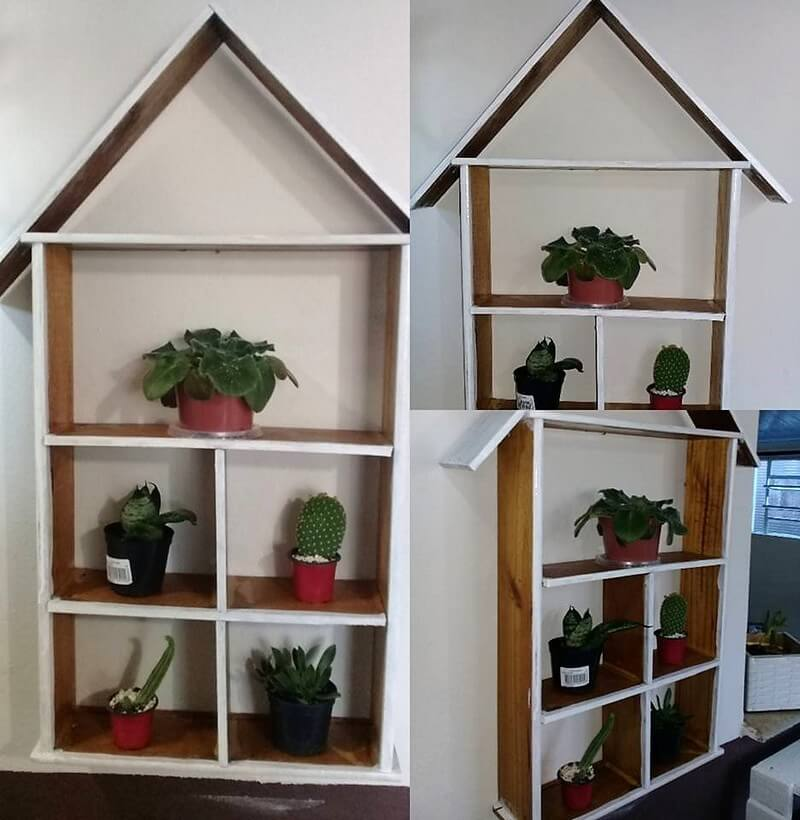 wood pallet decor shelf