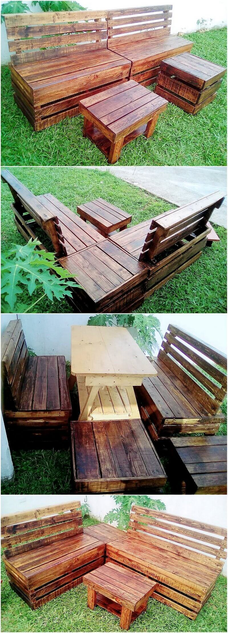wood pallet garden furniture