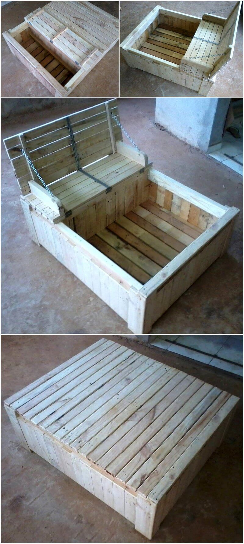 wood pallet kids toys play box