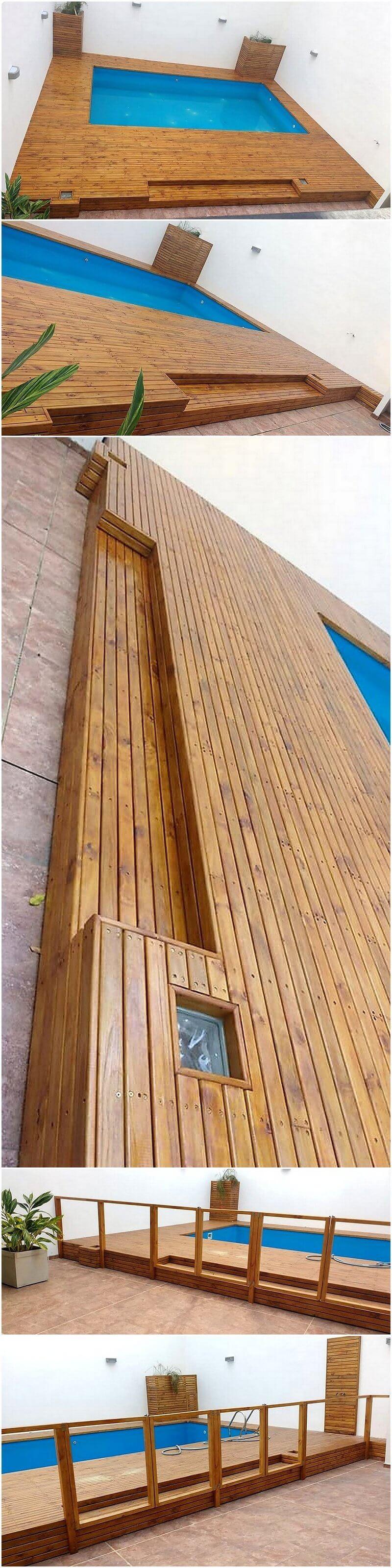wood pallet pool plan