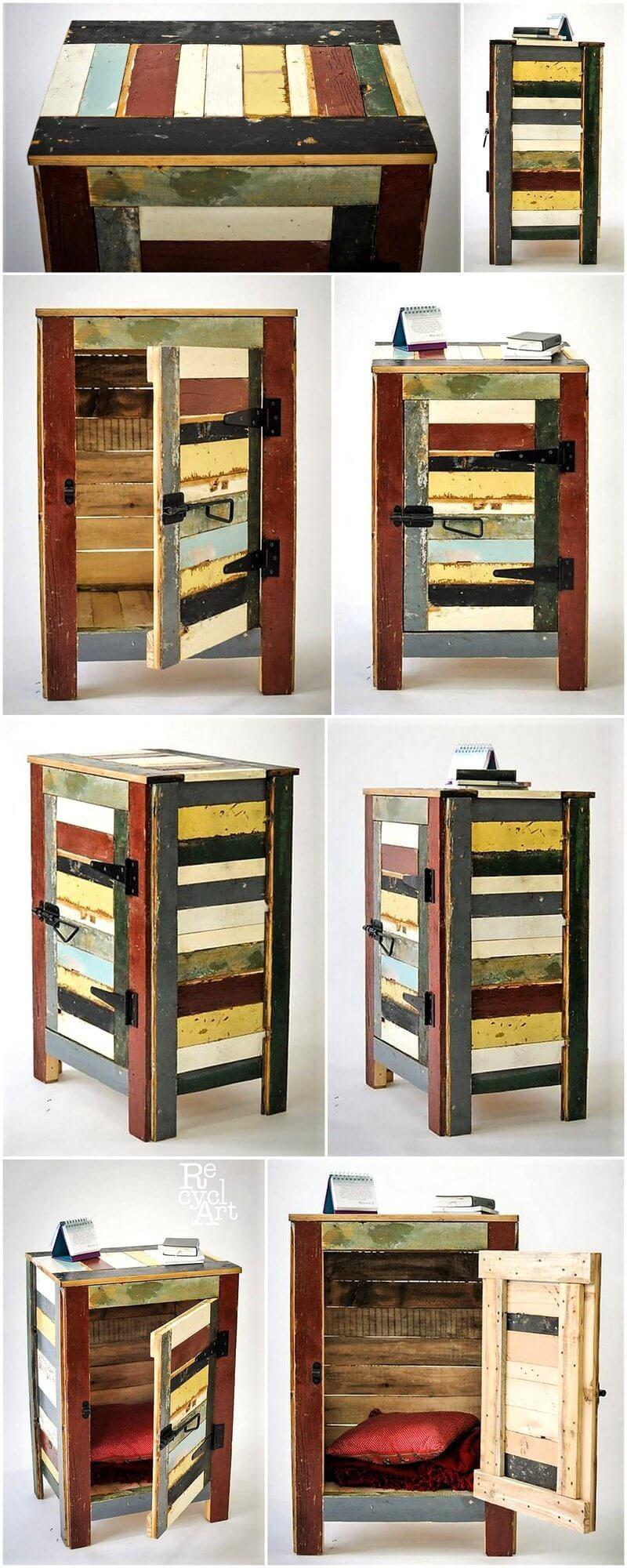 Wood Pallet Rustic Nightstand