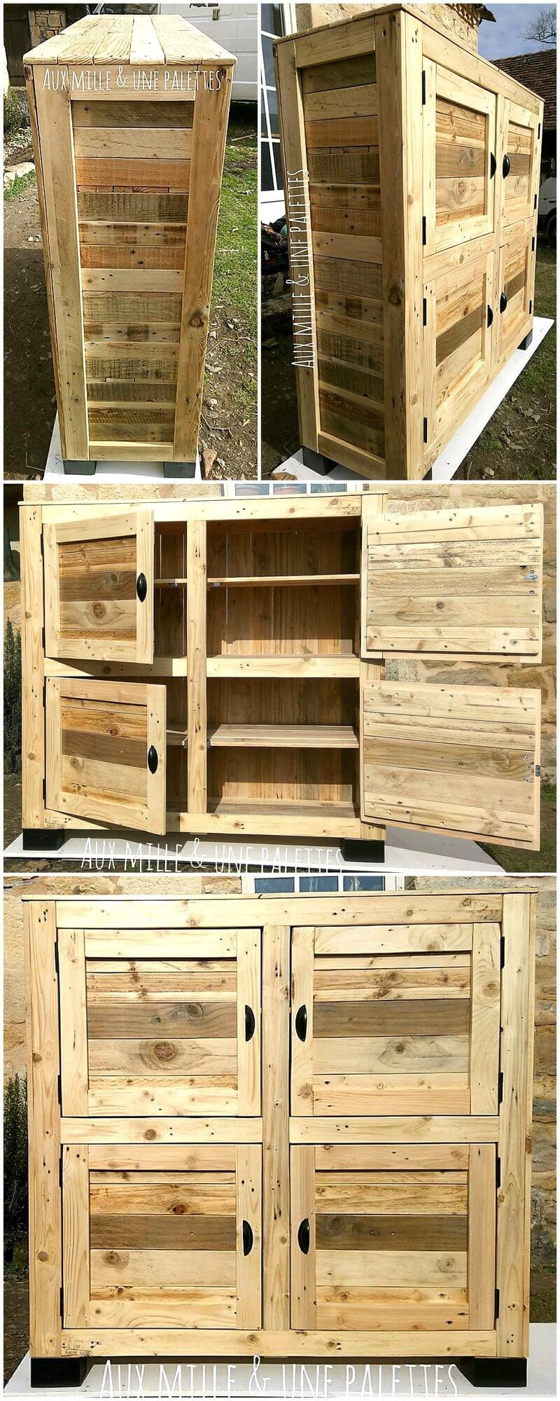 wood pallets closet plan